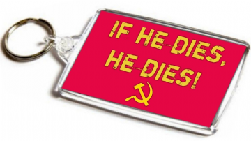 Ivan Drago Quote Jumbo Keyring. Inspired by Rocky. If He Dies, He Dies